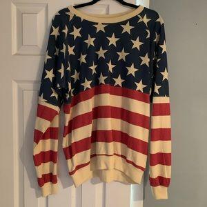 Easel American flag sweatshirt